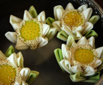 Cambodian Culture Folded Lotus Flowers