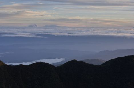 Caribbean view visible from the summit of Volcan Baru