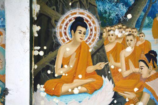 phnom krom cambodia ceiling painting