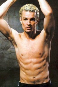 James Marsters just hanging around shirtless.