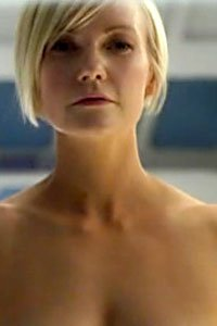 Laura Harris as a very naked Zoe Barnes from the Defying Gravity pilot.