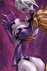 Ivy from Soul Caliber with huge round breasts and a large butt.