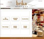 Brikadesigns.com - Designed in Flash and Photoshop