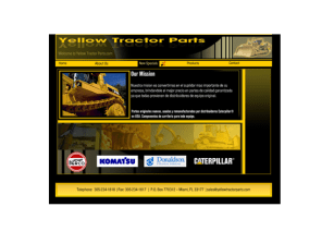 Yellow Tractor parts- Designed in Flash and Photoshop