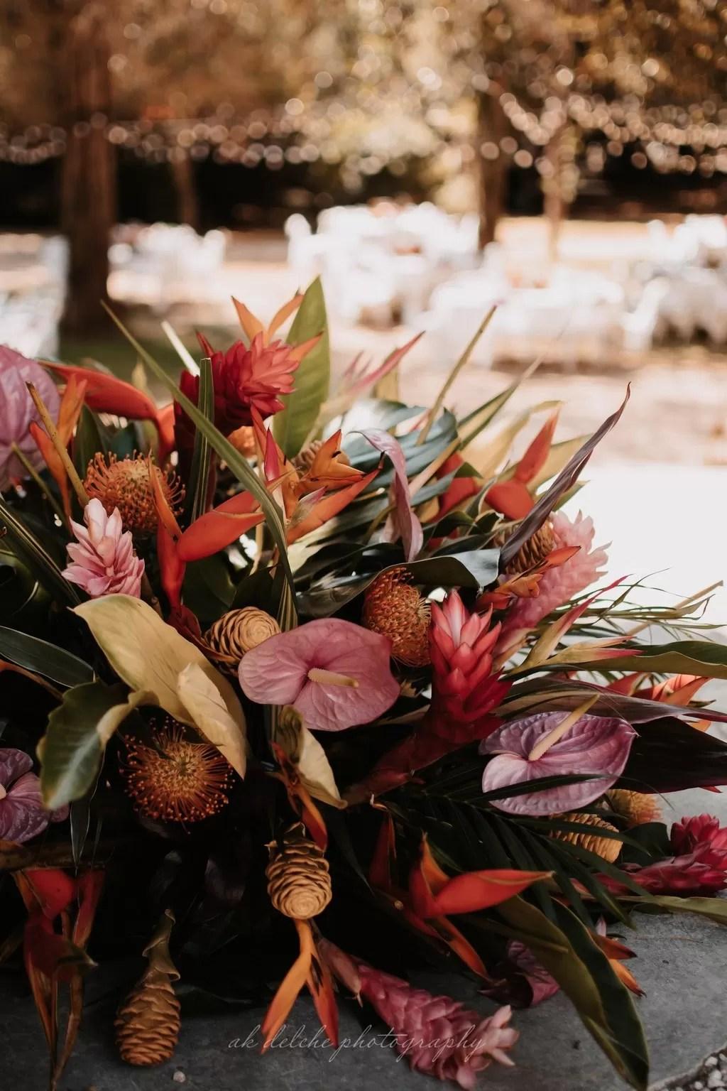 bouquet de fleur mariée tropicale