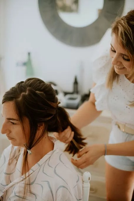 coiffeuse chignon coiffure mariage normandie cherbourg