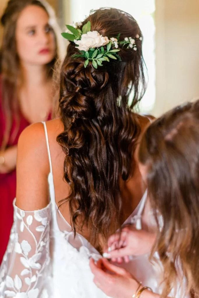 coiffure cheveux long mariée cherbourg normandie