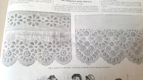 Bandes de broderie anglaise, La Mode Illustrée, 12 décembre 1880