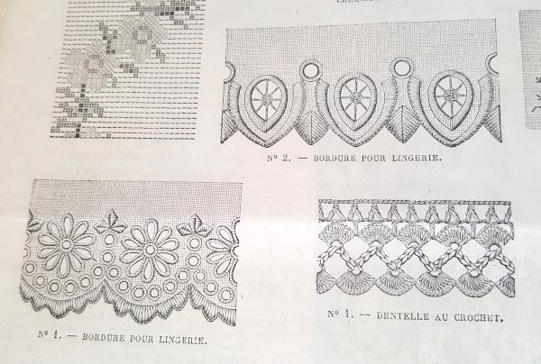 Bordure pour lingerie, La Mode Illustrée, 12 septembre 1880