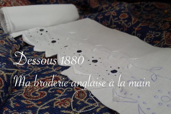 broderie anglaise à la main dessous 1880 - Carnet de recherches de Lucie Choupaut