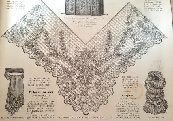 Broderie sur tulle, La Mode Illustrée, 9 mai 1880