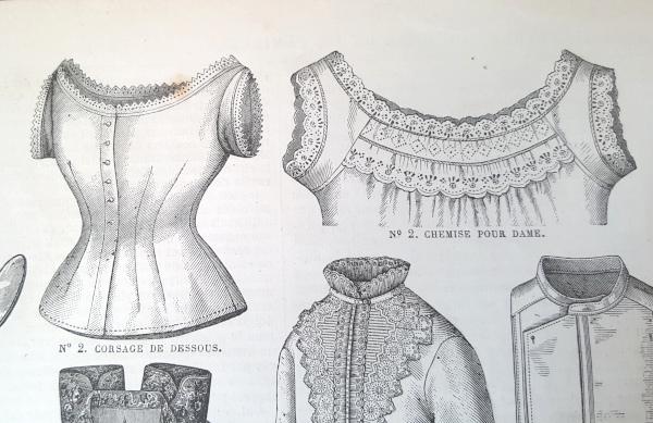 Chemise pour dame et corsage de dessous, La Mode Illustrée, 22 août 1880