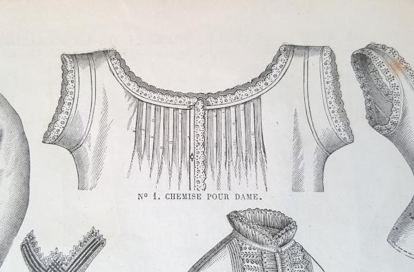 Chemise pour dame, La Mode Illustrée, 22 août 1880