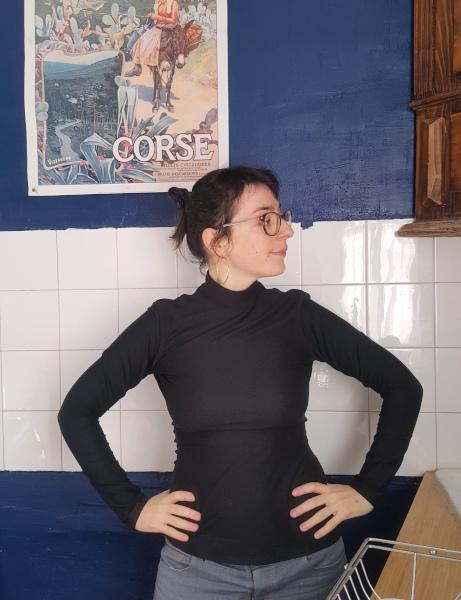 col montant Dressed en jersey de tencel noir