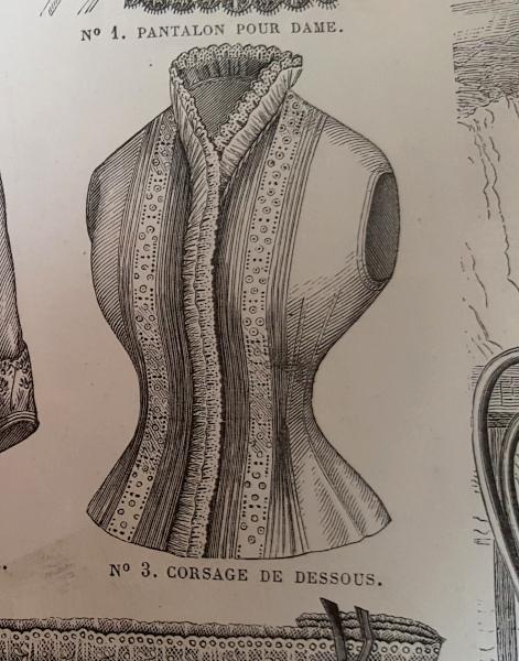 Corsage de dessous, La Mode Illustrée, 22 août 1880