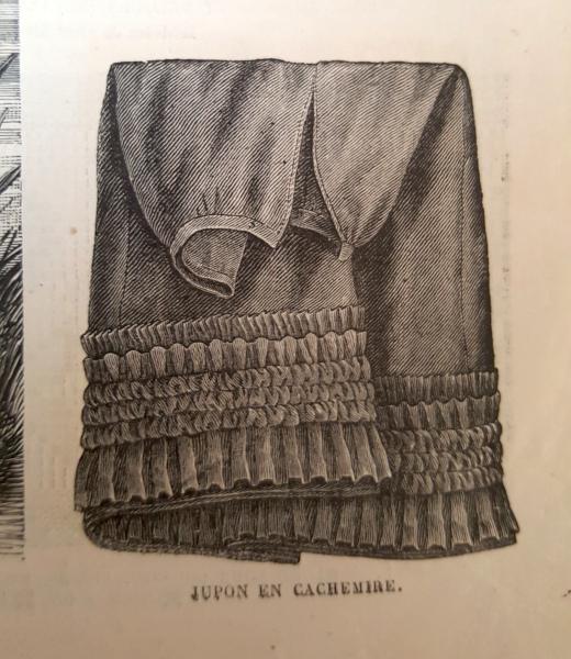 Jupon en cachermire, La Mode Illustrée, 5 septembre 1880