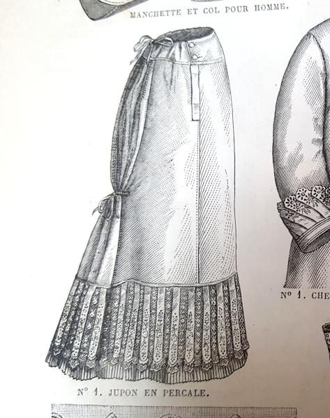 Jupon en percale, La Mode Illustrée, 22 août 1880