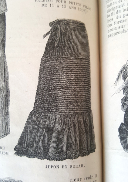 Jupon en surah, La Mode Illustrée, 7 novembre 1880