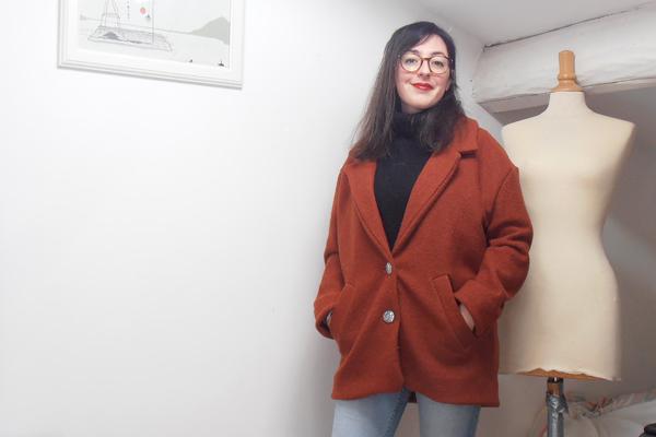 manteau Gérard République du Chiffon en laine bouillie rouille