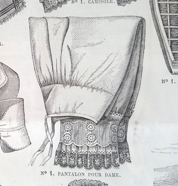 Pantalon pour dame, La Mode Illustrée, 22 août 1880