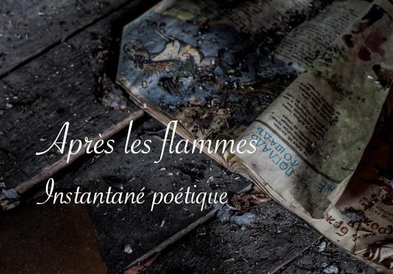 """Papier brûler, poésie """"Après les flammes"""" par Lucie Choupaut"""