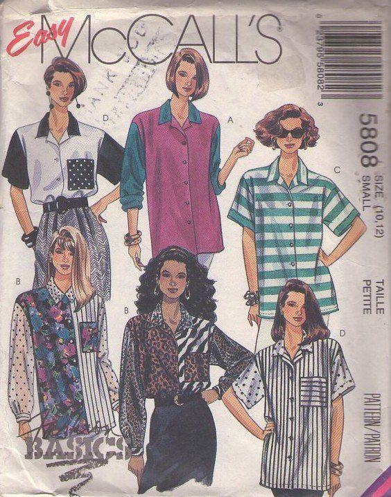 patron de couture Mc Calls années 1980