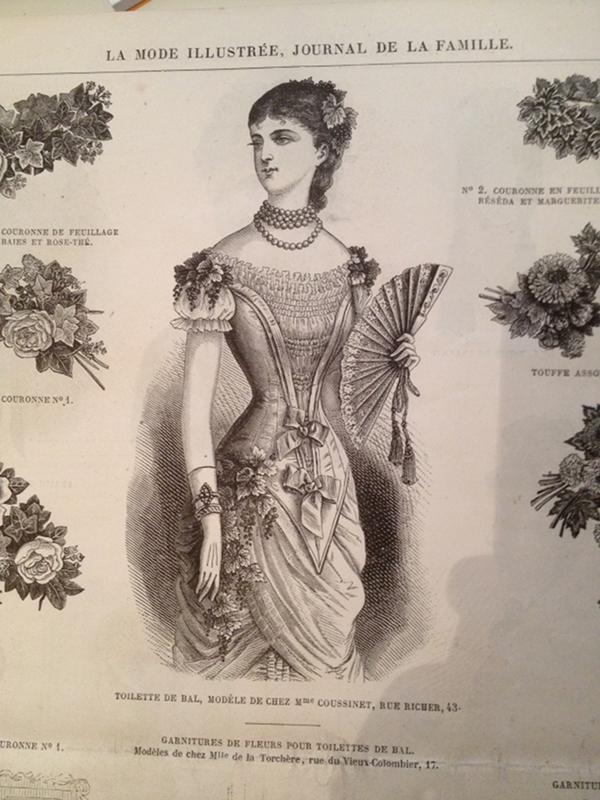 toilette de bal janvier 1880 La Mode Illustrée