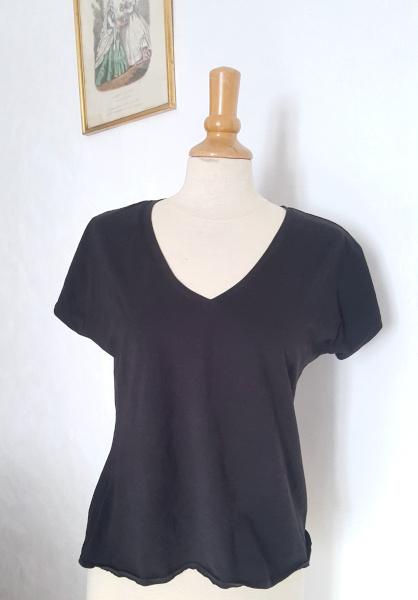 t-shirt dressed noir col V