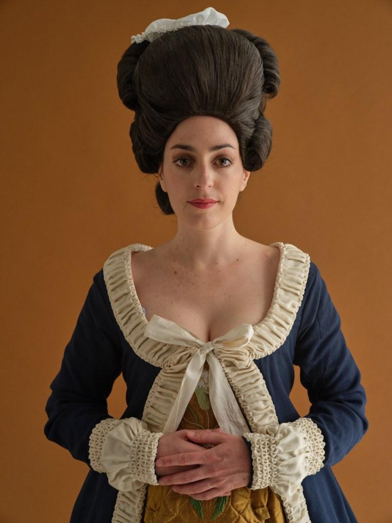 Portrait face robe à la polonaise 1770