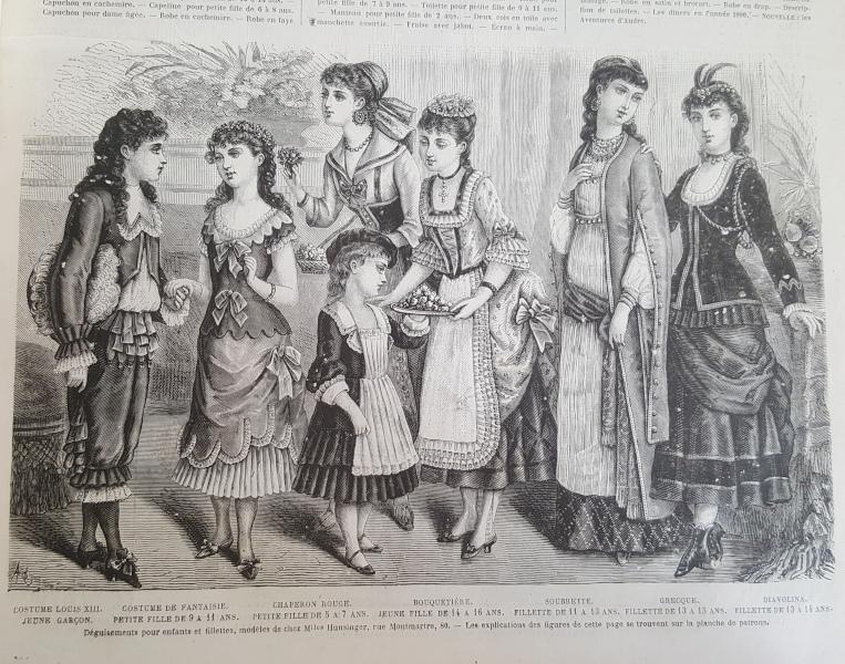 Bal costumé d'enfants, La Mode Illustrée 18 janvier 1880
