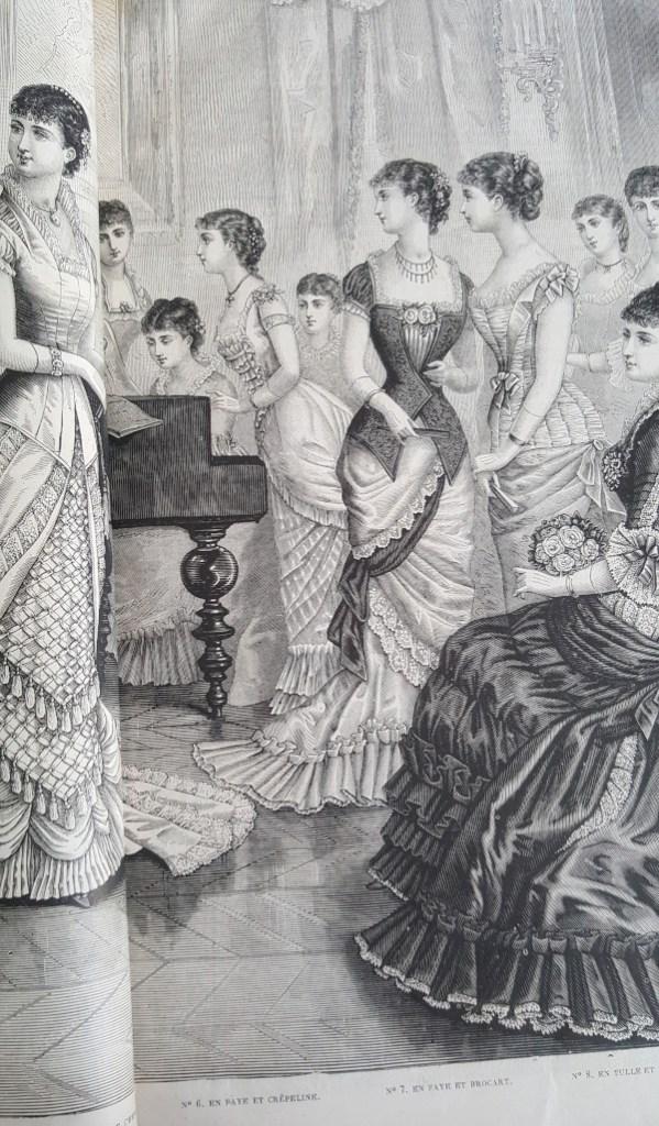 toilette de bal faye et brocard, La Mode Illustrée, 4 janvier 1880