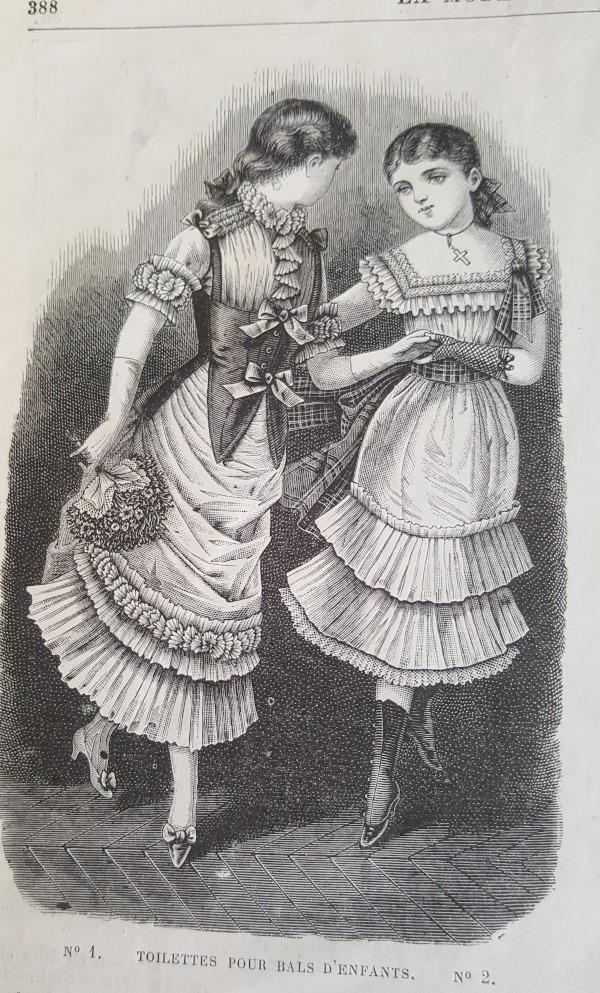 Toilettes pour bals d'enfants La Mode Illustrée 5 décembre 1880