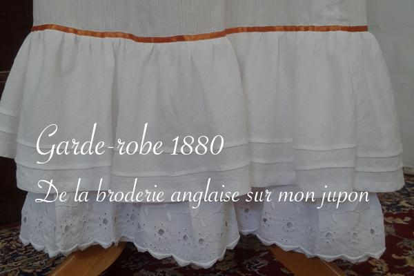 Broderie anglaise pour jupon 1880 - Carnet de recherches de Lucie Choupaut