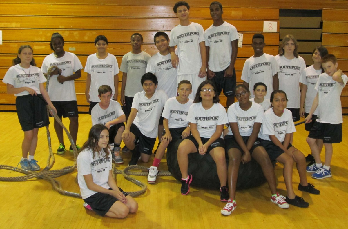 Southport Middle School Physical Education Students Participate In Boot Camp And Cross Fit