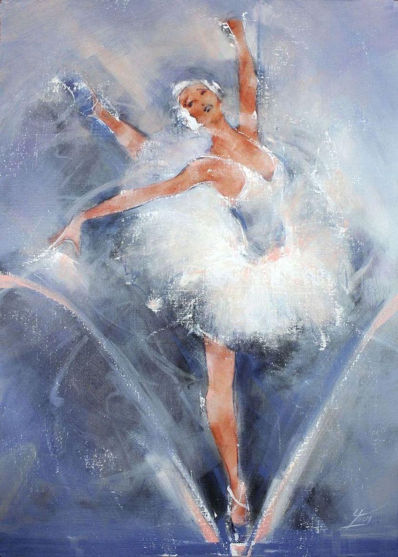 tableau peinture danseuse classique