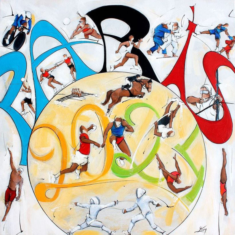art painting on canvas sport olympic games