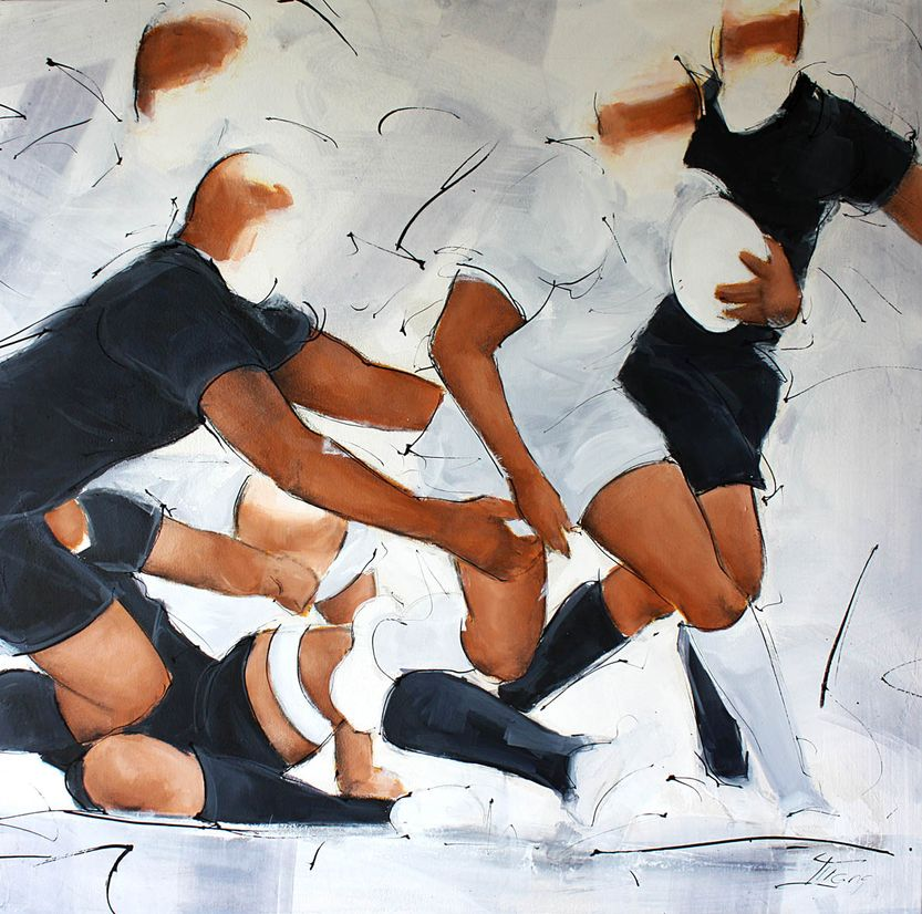 art painting sport rugby all blacks