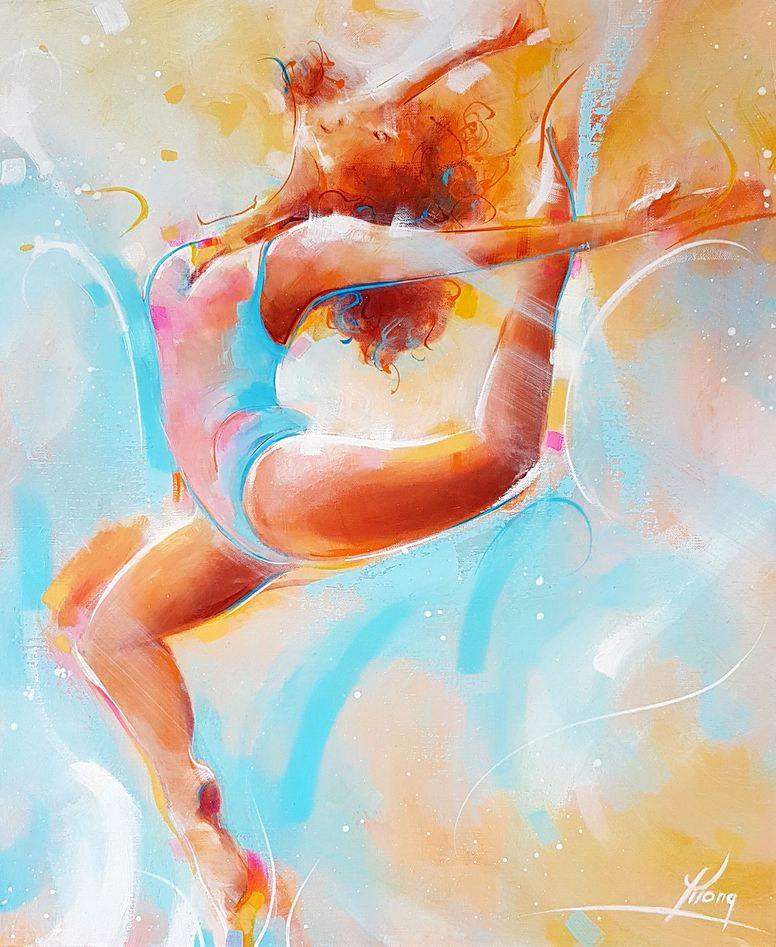 art peinture tableau de danse moderne coloré
