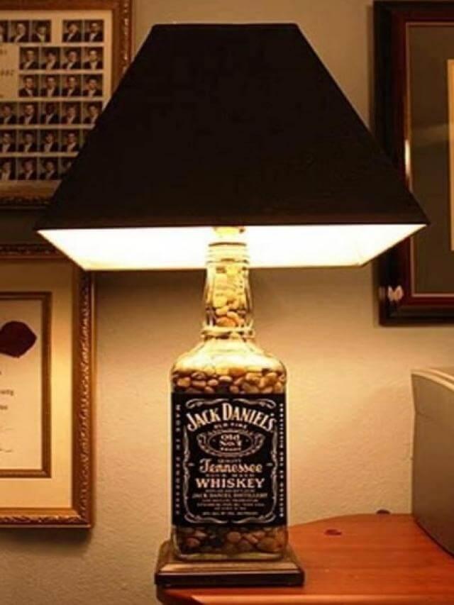 lampara de botella de wisky