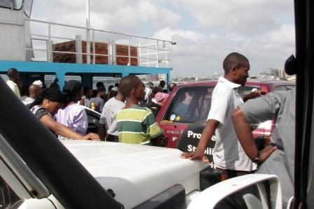 Ferry at Dar es Salaam - one of many trips