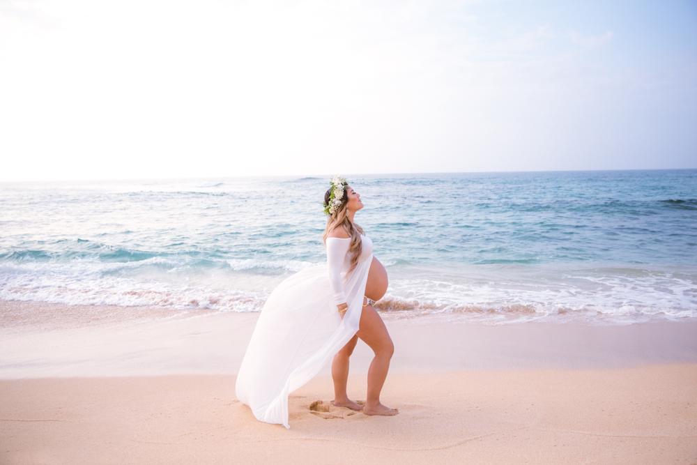 maternity on the beach