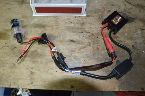 The HID kit with 35W ballast