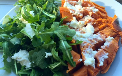 Fast Lunch: Sweet Potato & Arugula