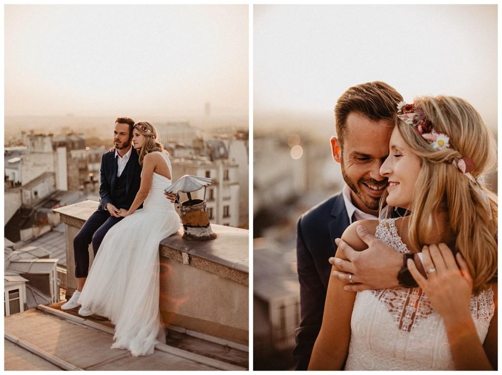 photographe mariage paris toit de paris accès naturel