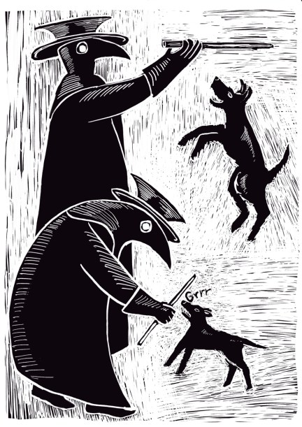 Plague Doctors and Dogs