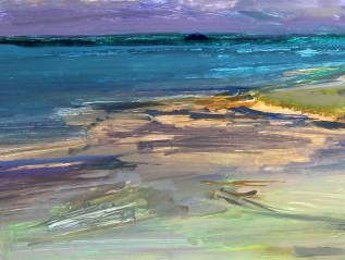 Daily Painting Storm Over Daymer, Sold, NEAC Open Exhibition, Mall Galleries, 2014