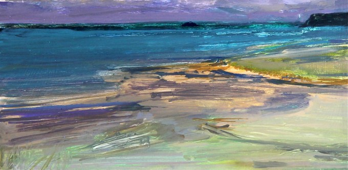 Storm over Daymer, Oil on Board. Selected for NEAC annual Open Exhibition November 2014