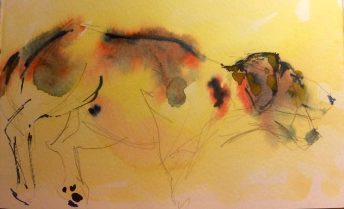 Watercolour, 20x 13cm
