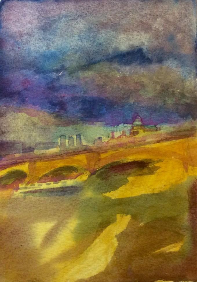 Watercolour, 12.5x 17.8 cm