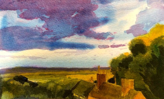 Watercolour, 17 x10.8 cm